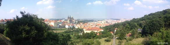 Panoramic chateau prague